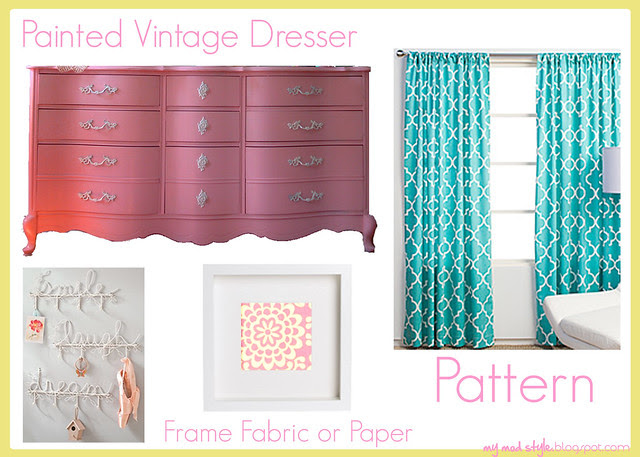 Kimberlys pink dresser board