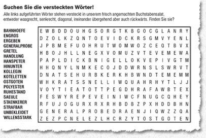 Kreuzworträtsel Suchen
