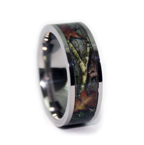 Camo Ring   Titanium Camo Wedding Band
