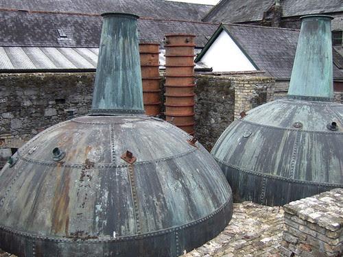 Old stills at Kilbeggan Distillery