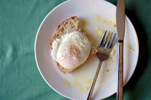 poached egg on toast