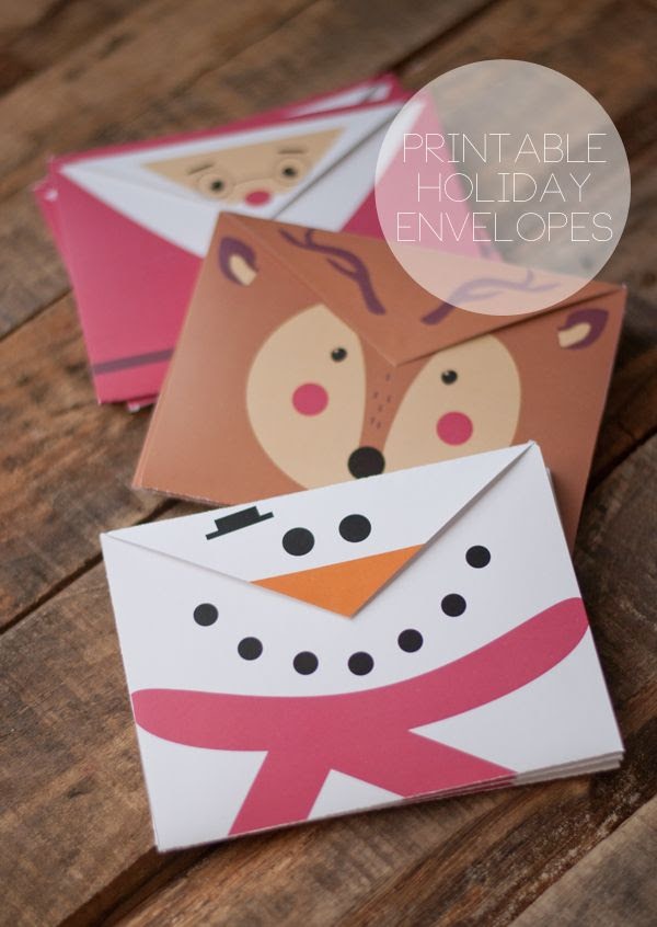 Adorable!! Printable Holiday Envelopes | this heart of mine