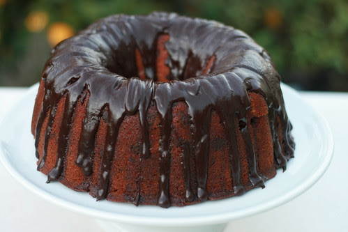 Blood Orange Chocolate Chunk Bundt Cake