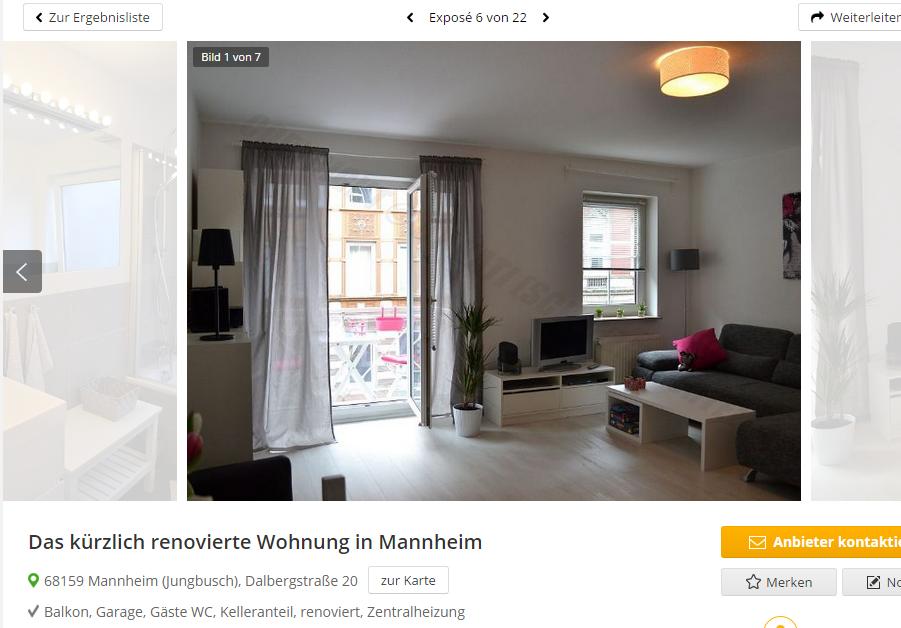 das k rzlich renovierte wohnung in mannheim 68159 mannheim. Black Bedroom Furniture Sets. Home Design Ideas