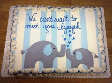 Sheet Cake with Blue and Gray Elephants ? Trefzger's Bakery