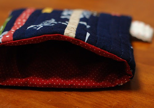 How to make a string quilt pouch 19