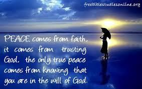 peace from faith