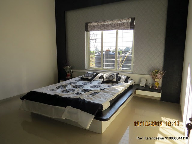 Bedroom - Visit 2 BHK Show Flat of Vastushodh Projects' UrbanGram Kolhapur, Township of 438 Units of 1 BHK 2 BHK Flats, behind S. P. Office, near Dream World Water Park, Kolhapur 416003 Maharashtra, India
