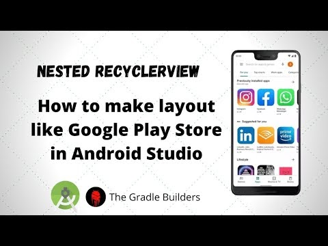 How to make Play Store Like Layout in Android Studio | Nested RecyclerView | Android Studio Tutorials