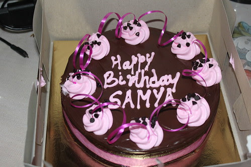 Brown Chocolate Mouzi Cake For Samiya's Birthday From Her Ma by firoze shakir photographerno1