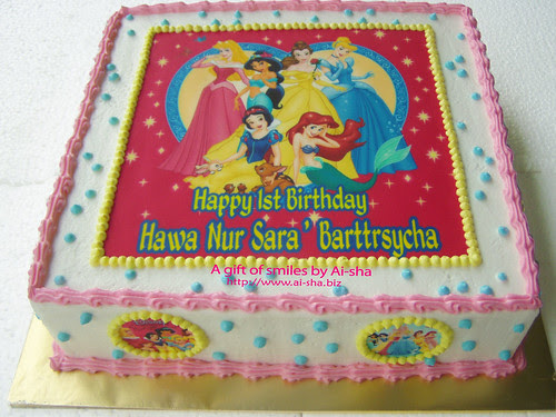 Birthday Cake Edible Image Disney Princess