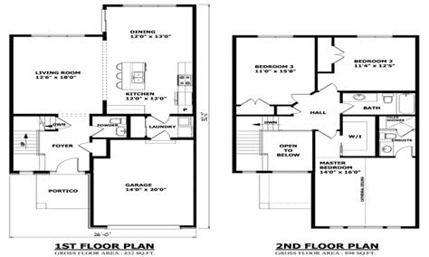 simple  story house modern  story house plans