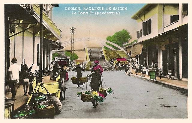 Cholon, banlieue de Saïgon - le pont tripiedestral