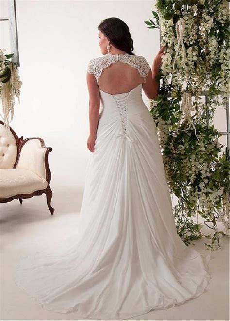 Bling Brides Elegant Wedding Dress, Chiffon Plus Size