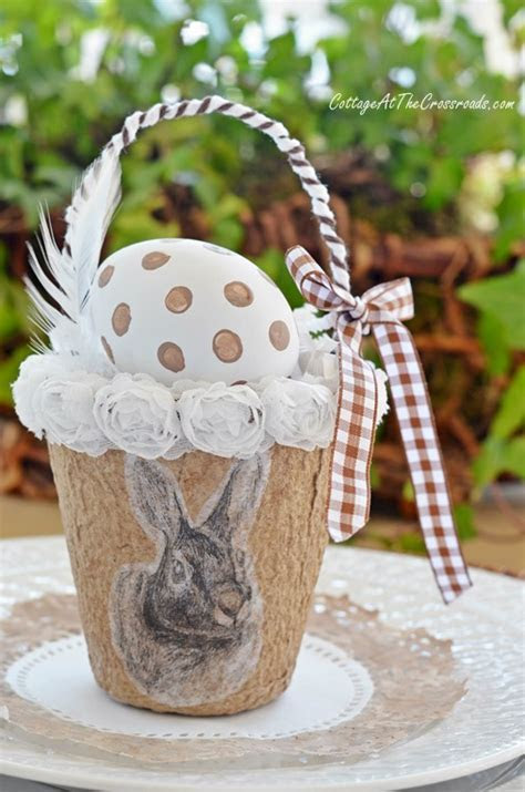 Make Peat Pot Spring Baskets, Perfect for Easter
