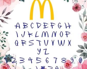 Download McDonalds Font Svg/McDonalds alphabet/McDonalds letters ...