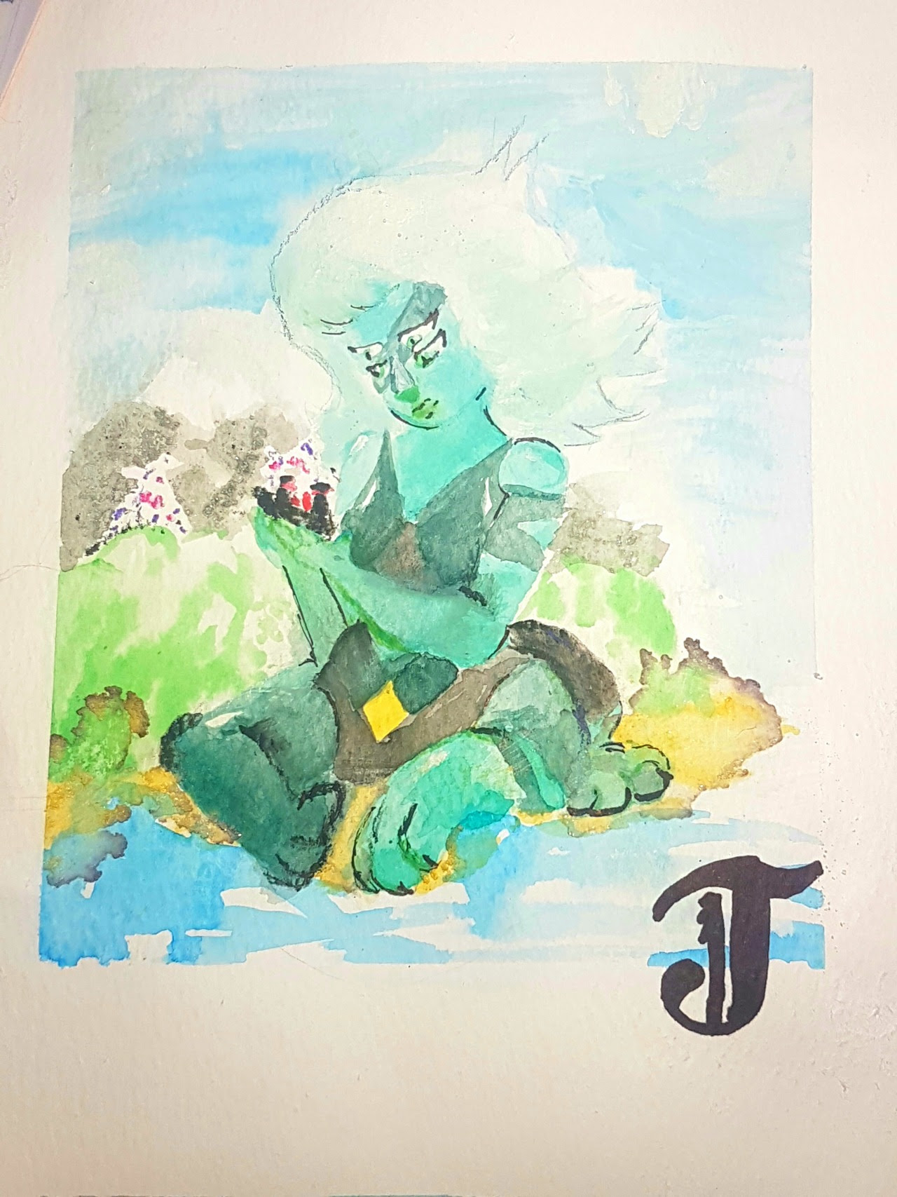 Gentle malachite on watermelon island