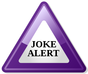 Notifies people of a joke. (SVG version)