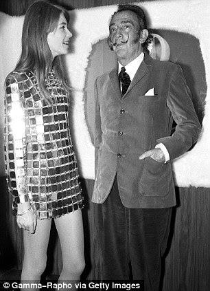 com Salvador Dalí em 1968