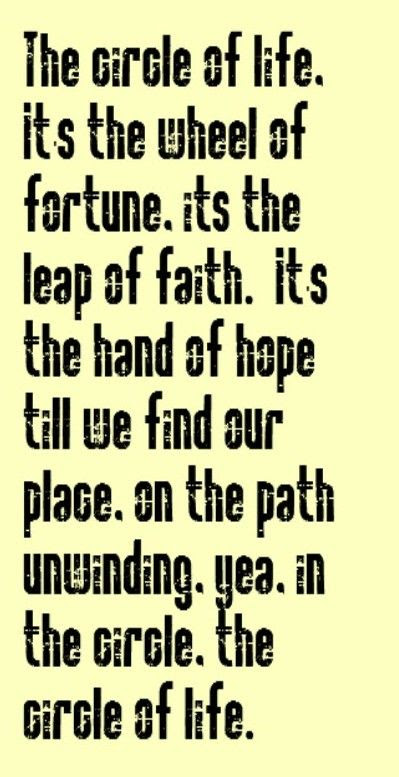 Quotes About Circle Of Life 81 Quotes