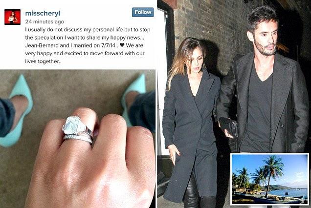 Cheryl's secret wedding