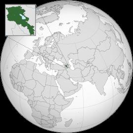 Localização de Arménia
