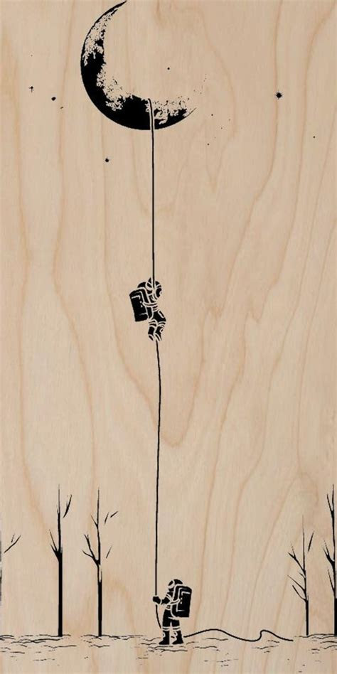 reach   moon astronauts climbing plywood wood