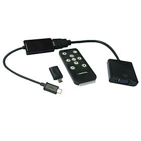 MHL Mikro-USB zu VGA HDTV-Adapter mit Fernbedienung Samsung Galaxy S2 S3 S4 Registerkarte Tablette 3 HDMI