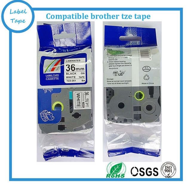 US STOCK 5PK TZe261 Black on White Label Tape Thermal For Brother P-Touch 1.5/""