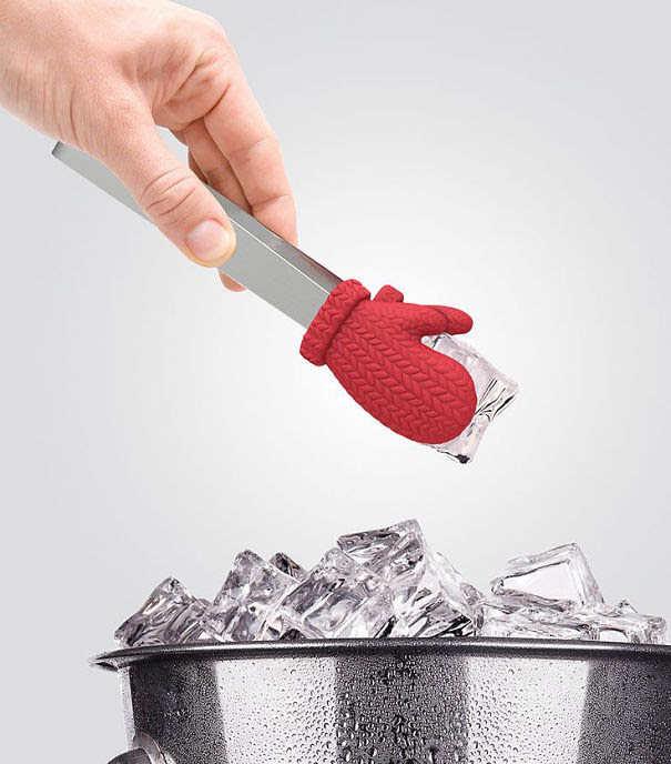 Mitten Ice Tongs