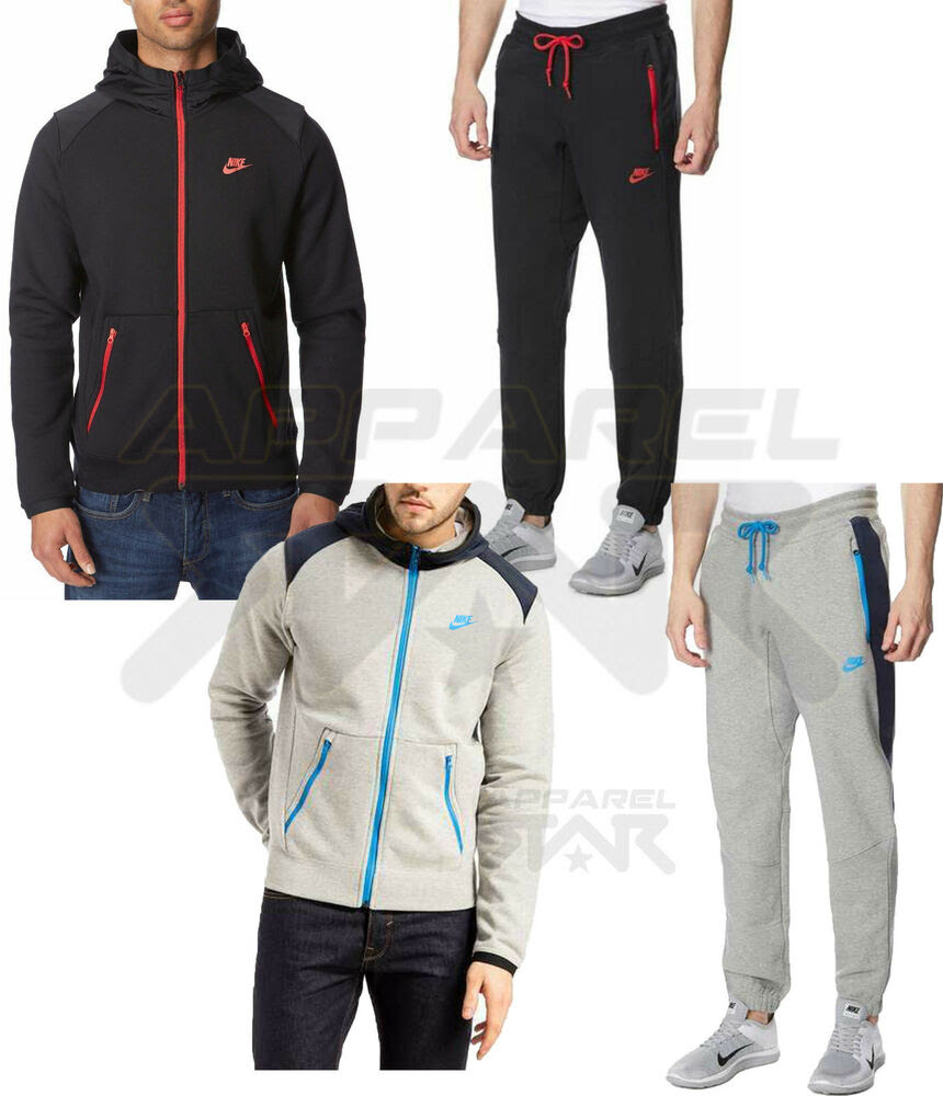 nike hybrid mens fleece hoody sports jogging full zip