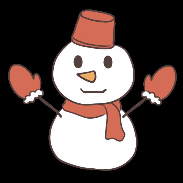 雪だるまのイラスト かわいいフリー素材が無料のイラストレイン