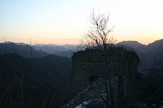 Sunrise at the Great Wall of China.