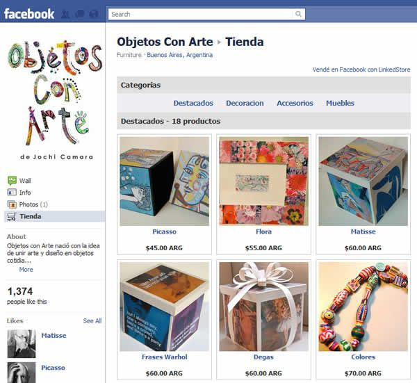Implementación en Facebook de una tienda Nube