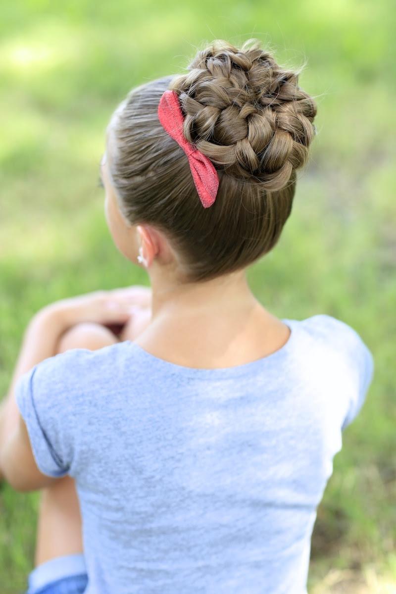 Pancaked Bun of Braids | Updo Hairstyles | Cute Girls ...