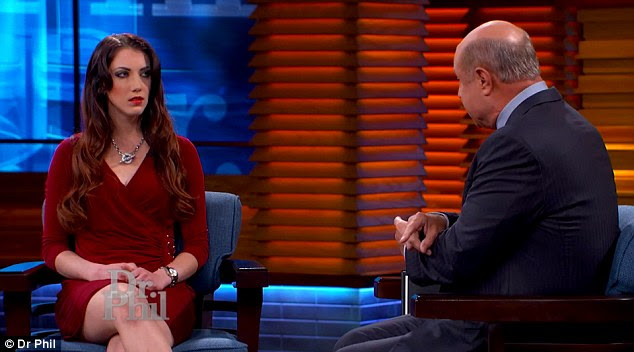 Career change: Haglin told Dr Phil McGraw that after she was fired, she became a stripper