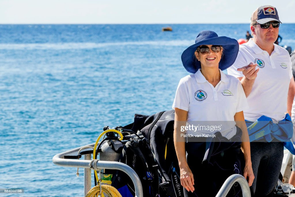 King Willem-Alexander and Queen Maxima visit Saba : News Photo