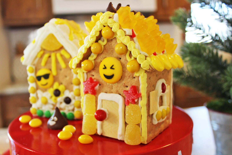 Emoji Party Ideas Emoji Gingerbread House Diy Build Decorate Kit