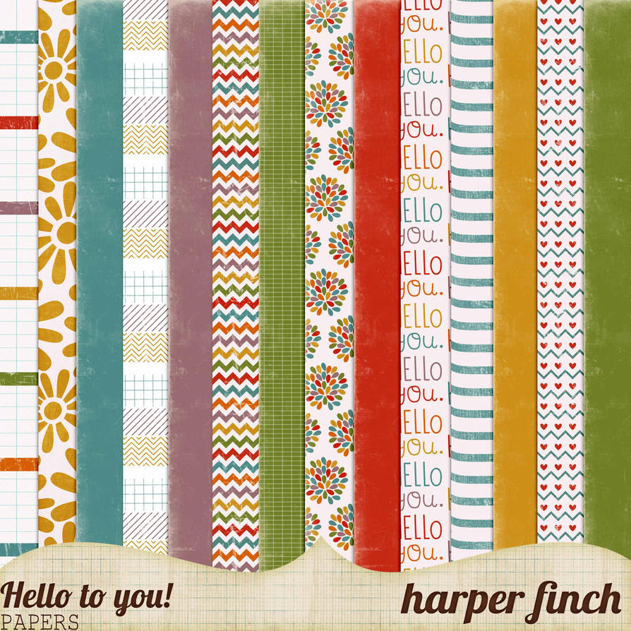 Hello to You!, Patterned and Solid Papers by harperfinch