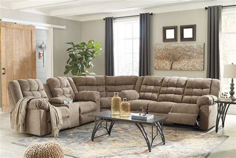 workhorse sectional  ashley furniture kloss furniture