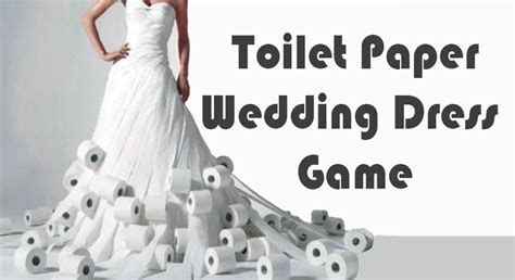 Toilet Paper Wedding Dress Game   Bridal Shower Game