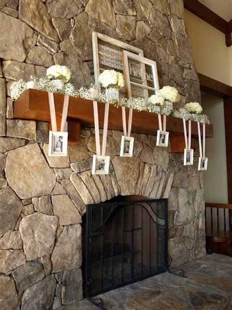 mantle decorations for wedding   Add a modern twist to the