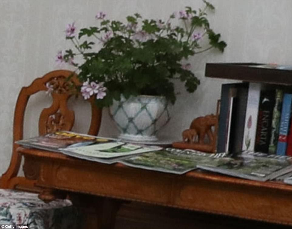 Magazines: The latest issue of Country Life is believed to be among the selection on display on this wooden side table