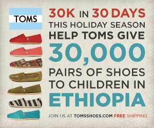 TOMS Shoes Holiday Challenge