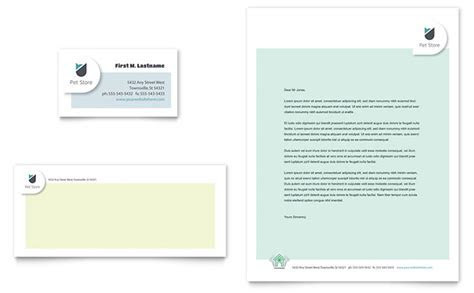 Pet Store Business Card & Letterhead Template   Word