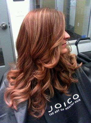 rose gold hair highlights