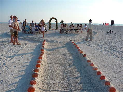 Sand Key Beach wedding ceremony near Clearwater, FL