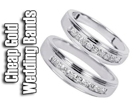 Cheap White Gold Wedding Rings   His And Hers Wedding Band