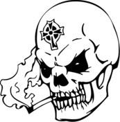 Disegno Di Teschio Non Morto Da Colorare Disegni Da Colorare E