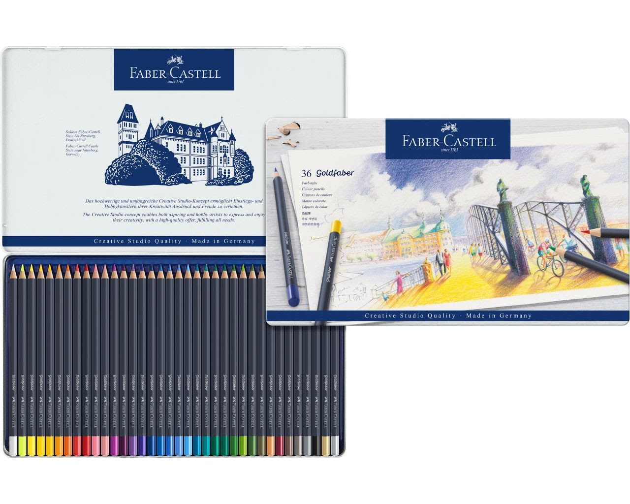 Faber Castell Creative Studio Goldfaber Colored Kuru Boya Kalemi 36